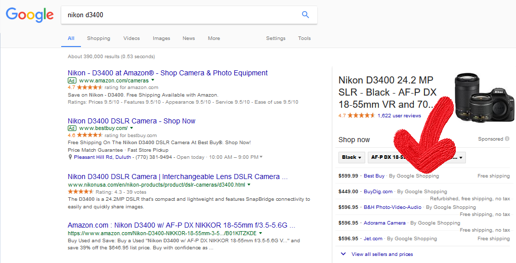 """Google Shopping tests """"by Google Shopping"""" in PLAs"""
