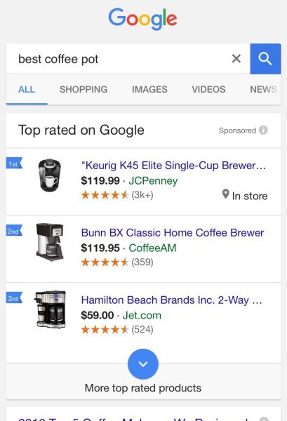 google shopping mobile