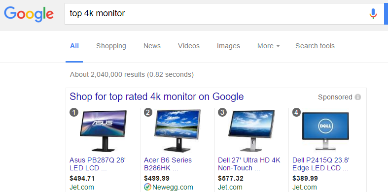 Google Shopping Rankings Added for Top and Best Keywords