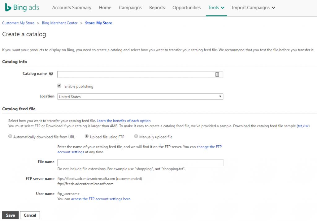Bing-Create-Catalog1