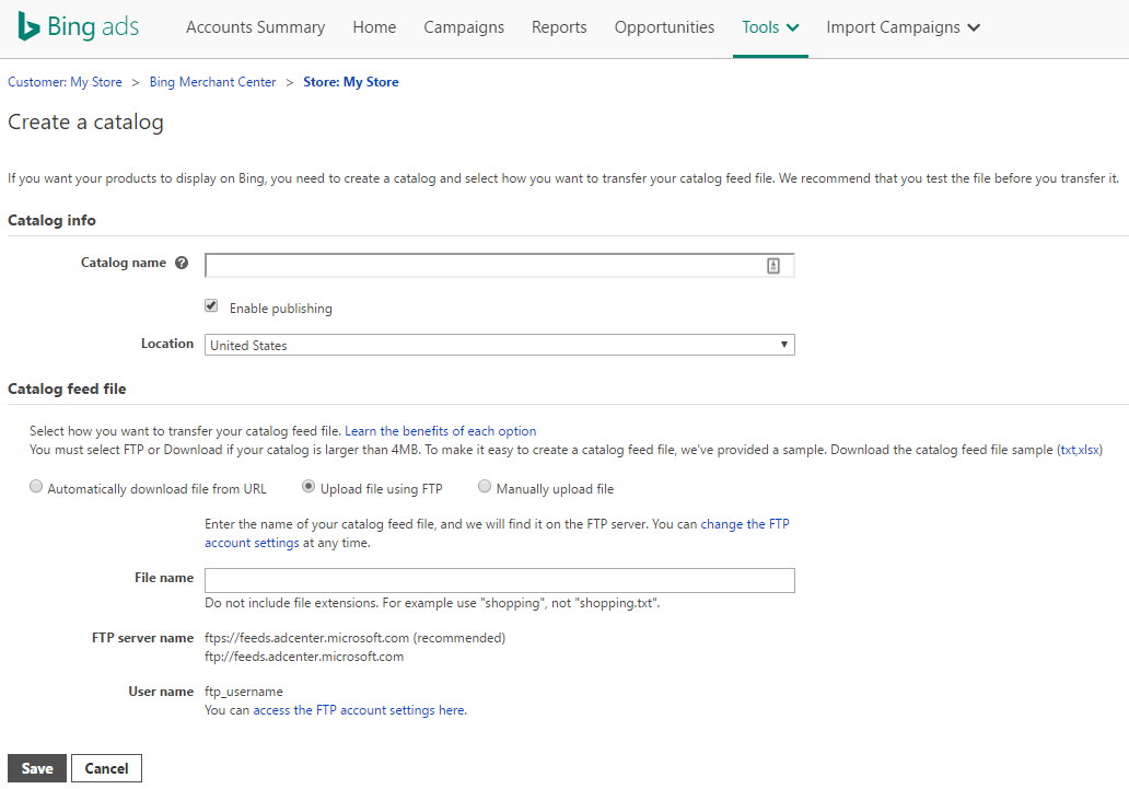 how to create a bing account