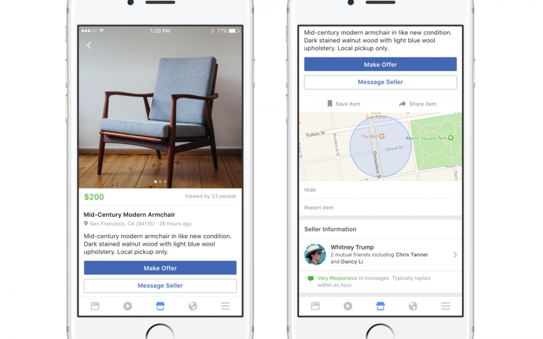 Facebook Marketplace Starts Testing Retailer Offers
