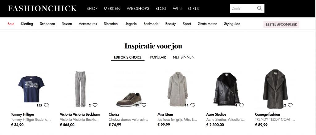 Fashionchick product listing