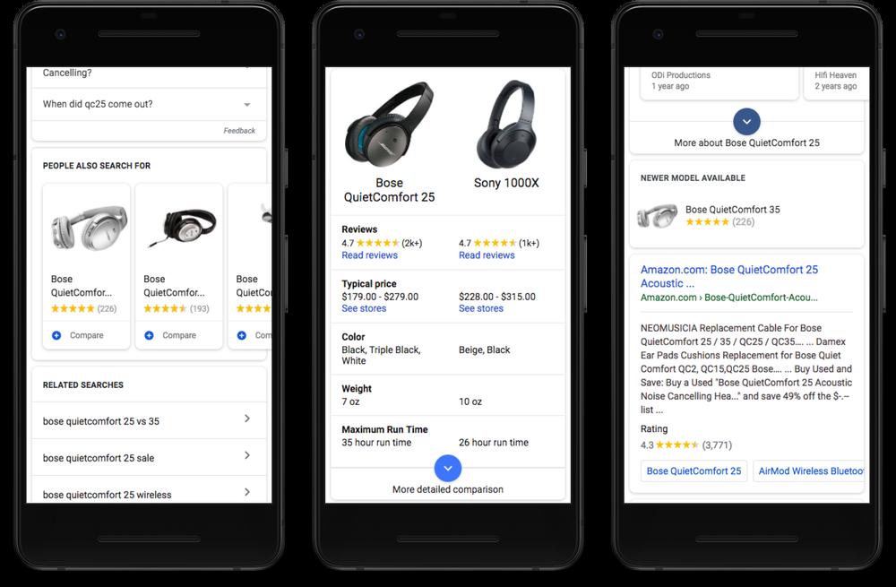 google shopping compare