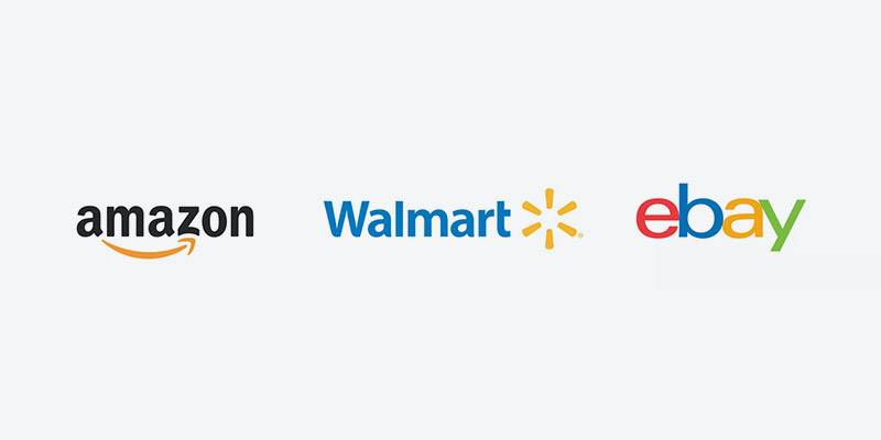 What Are the Relative Sizes of Amazon, Walmart, and eBay?