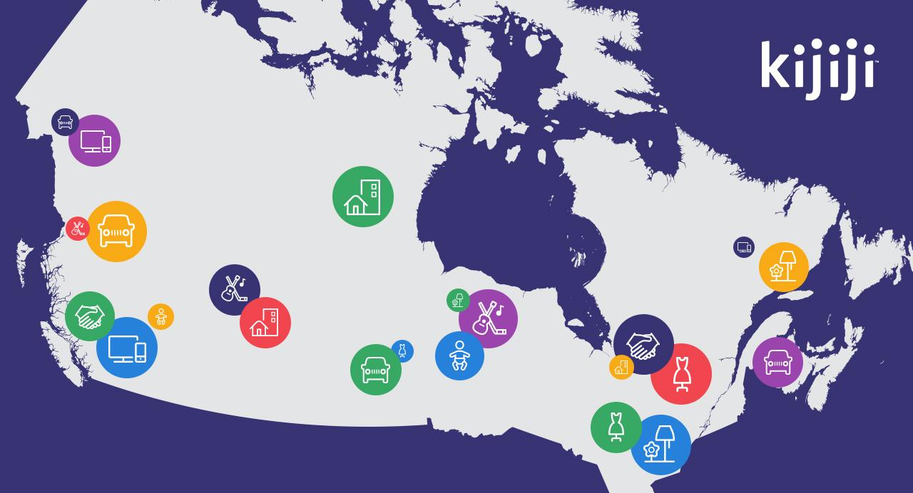 Kijiji coverage map