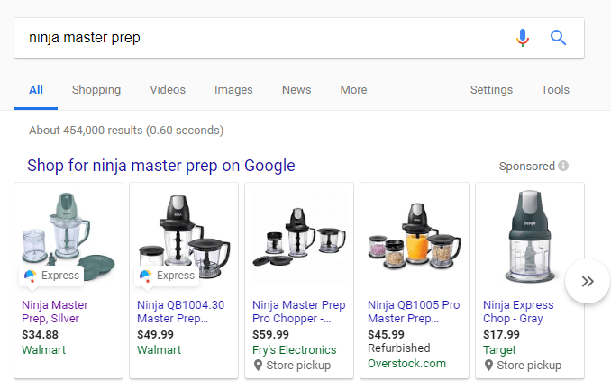 Google Shopping Actions Ninja Prep Ad