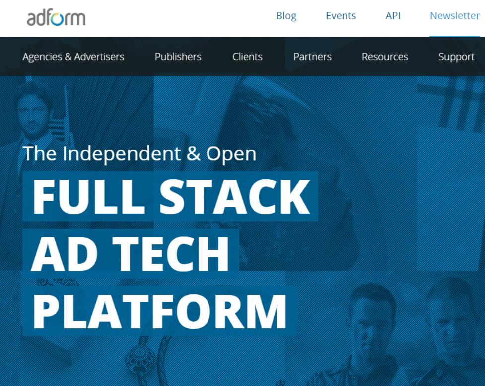 Adform homepage
