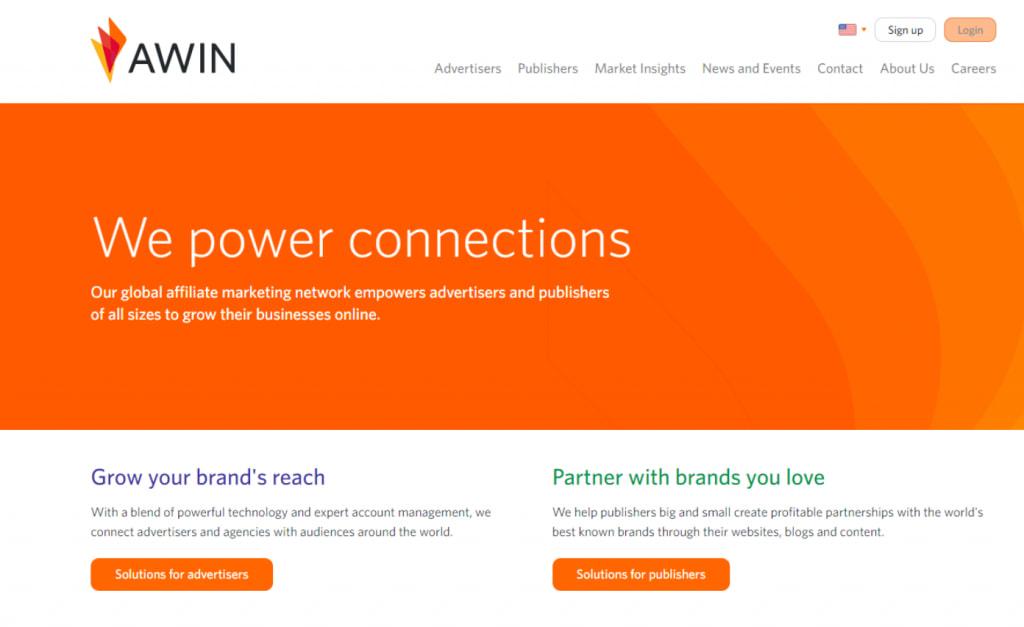 AWIN homepage