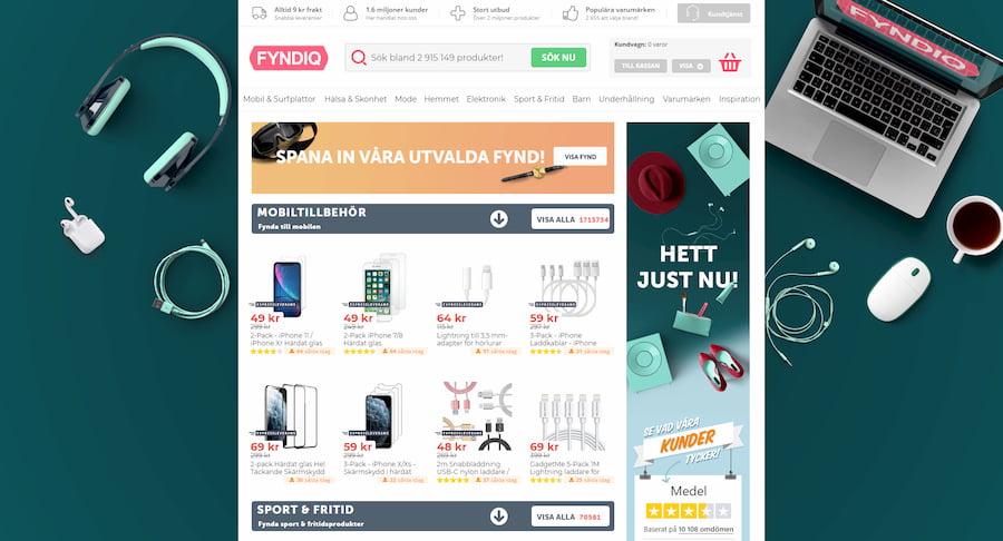 Fyndiq homepage