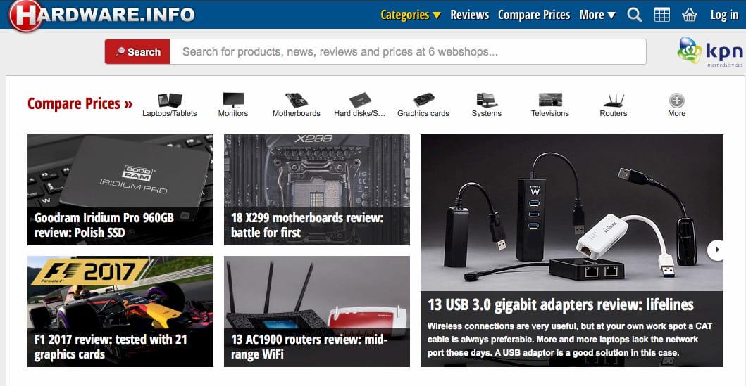 Hardware.info homepage