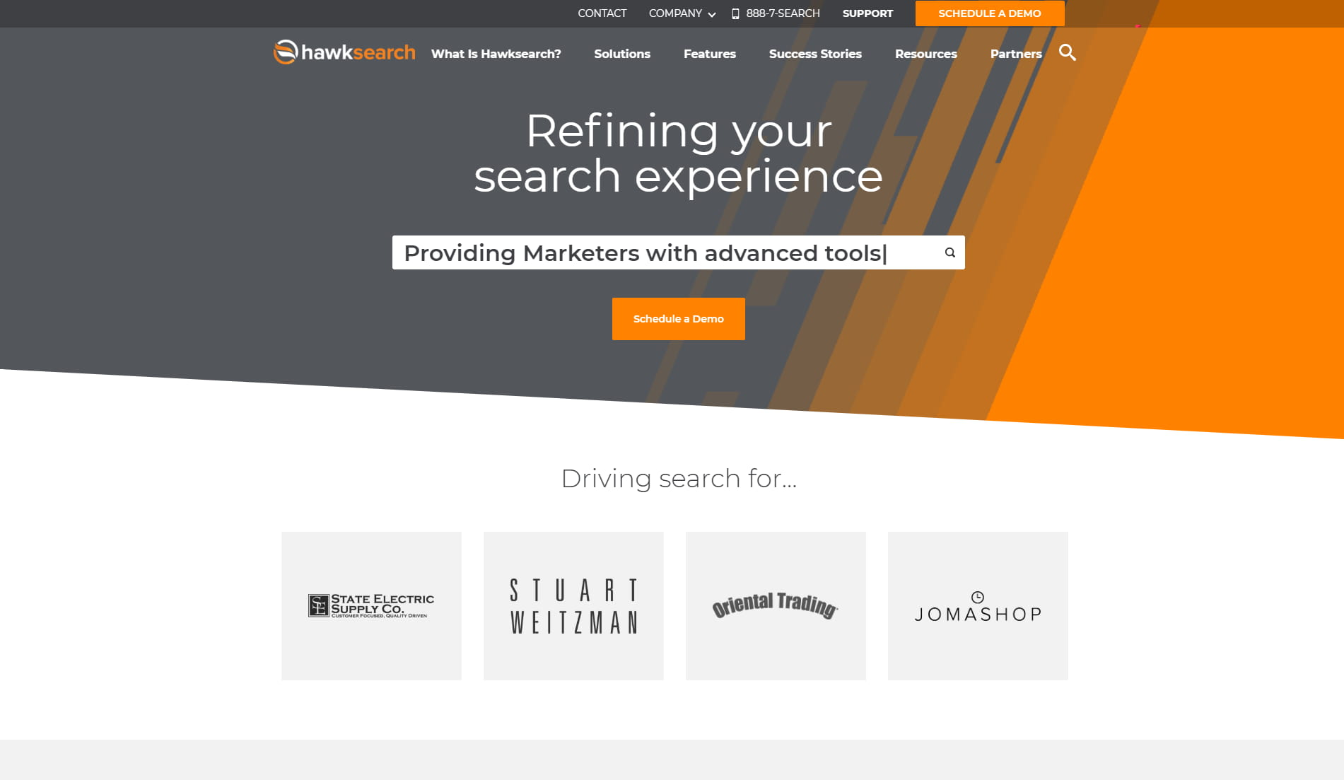 HawkSearch homepage