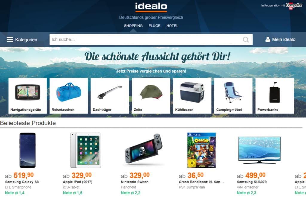 Idealo homepage