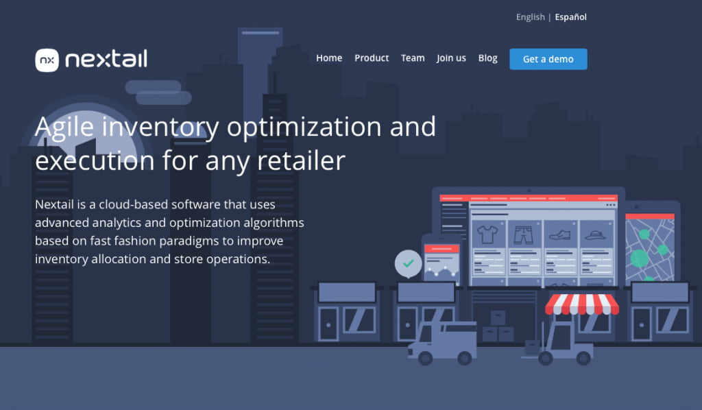 Nextail homepage