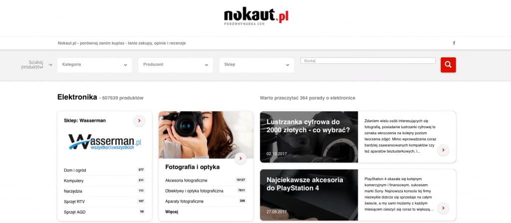 nokaut homepage