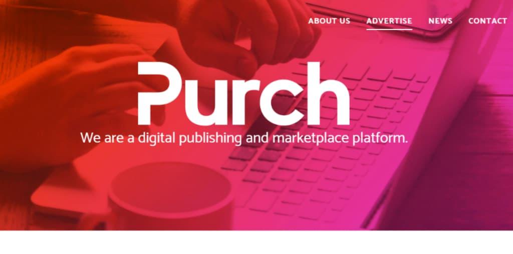 Purch homepage