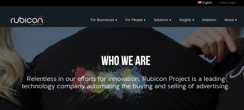 Rubicon Project homepage