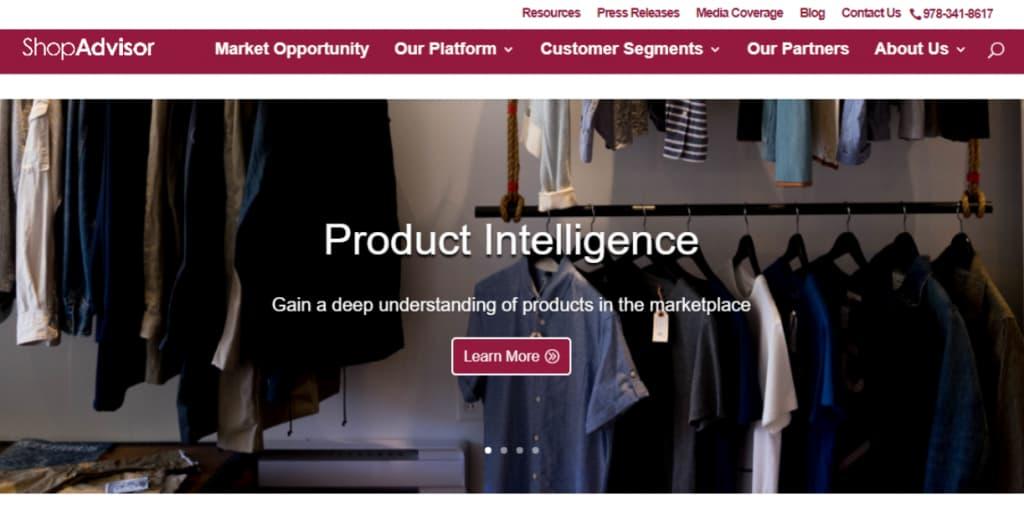 ShopAdvisor homepage