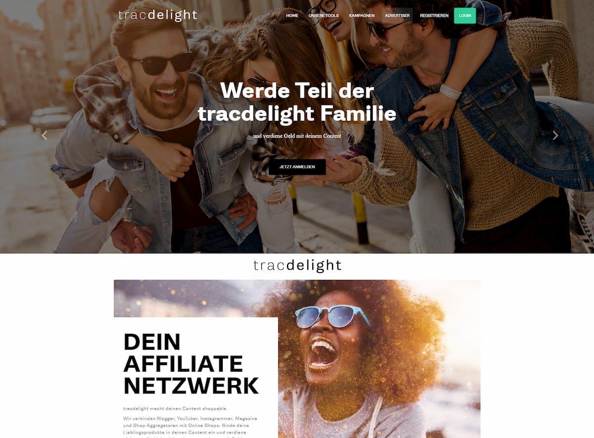 Tracdelight homepage
