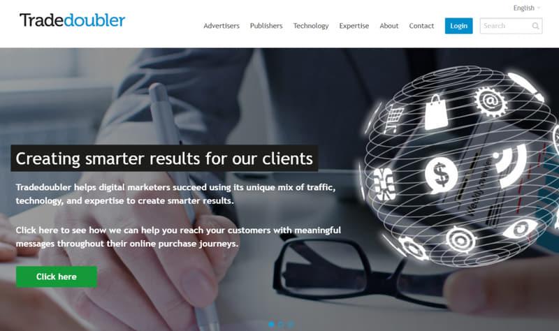 Tradedoubler homepage