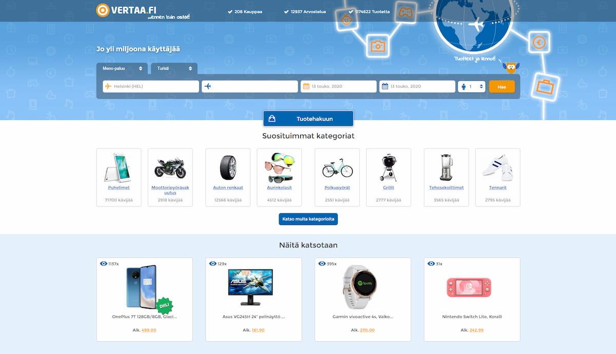 Vertaa homepage