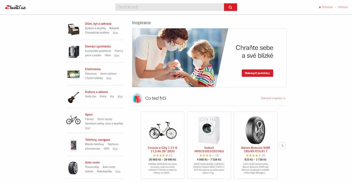 Zbozi homepage