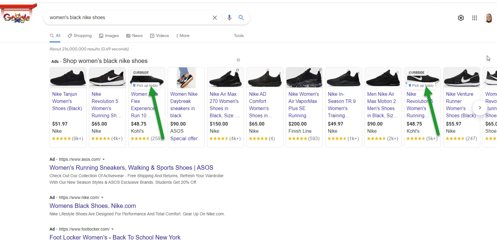Local inventory ads in Google Shopping